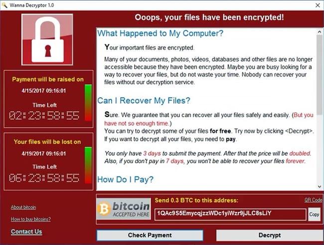Wanna-Decryptor-ransomware