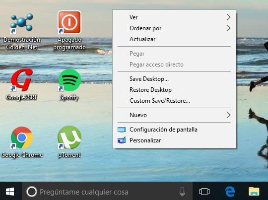 bloquear los iconos del escritorio en windows
