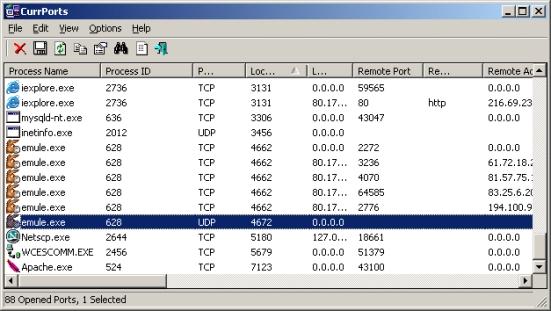 Control de puertos abiertos y sus procesos en Windows