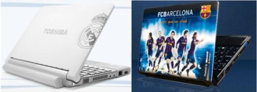 Portátiles del Madrid y Barça