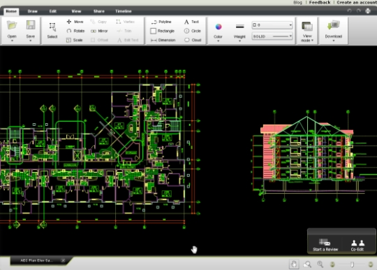 AutoCAD online desde butterfly.autodesk