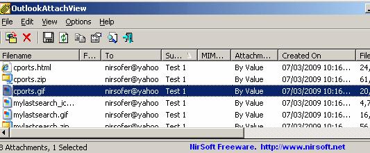 ver archivos adjuntos de Outlook