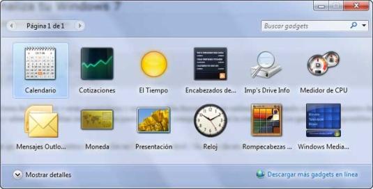 Los mejores Gadgets para Windows 7