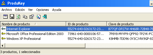 Ver la clave o licencia de Windows y Office