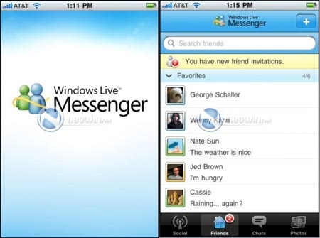 Messenger para iPhone