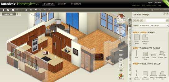 Diseño online de viviendas y locales con Homestyler