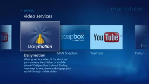 Youtube y otros servicios de streaming desde Windows Media Center