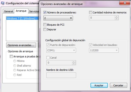 Iniciar Windows 7 más rápido