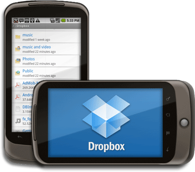 Disponible Dropbox para teléfonos Android