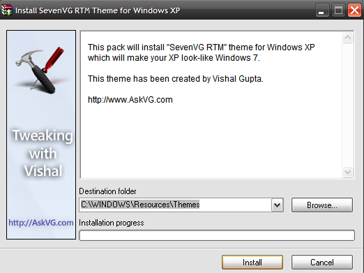 Instalar tema para Windows XP