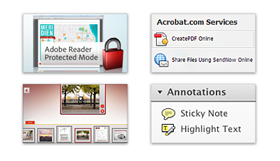 Novedades en Adobe Reader X