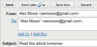 programar emails