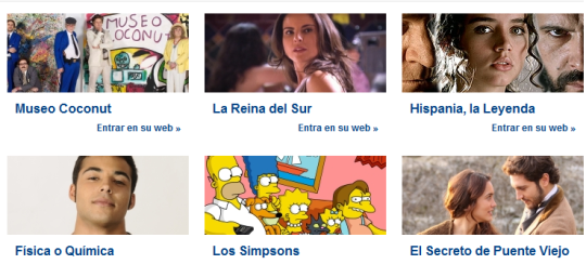 Las series de Antena3 online