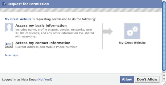 aplicaciones facebook consiguen telefono y direccion