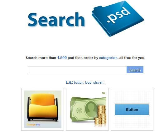 Buscador de archivos PSD