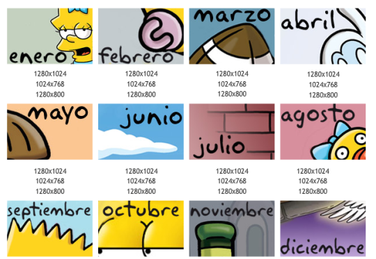 Calendario de los Simpsons 2011