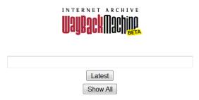 maquina del tiempo para webs