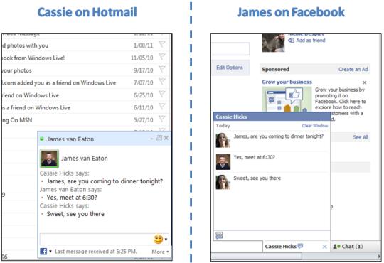 Chatear en Facebook desde Hotmail o Messenger
