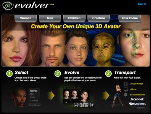 Avatar 3d gratuito desde evolver 3d creator online free