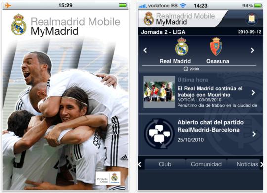 Sigue al Real Madrid desde el móvil