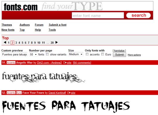 Fuentes Tipográficas Para Tatuajes Online