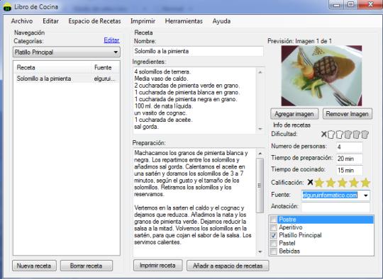 Libro de recetas virtual