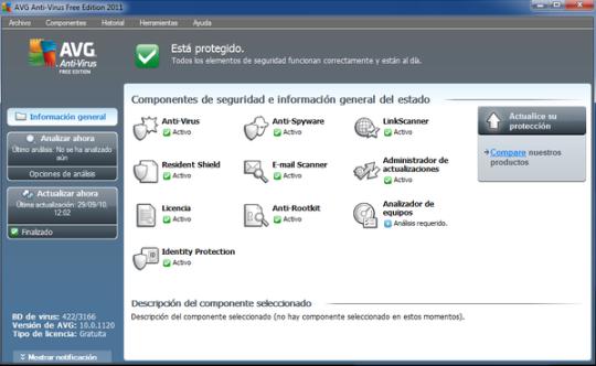 Descargar antivirus gratis AVG 10