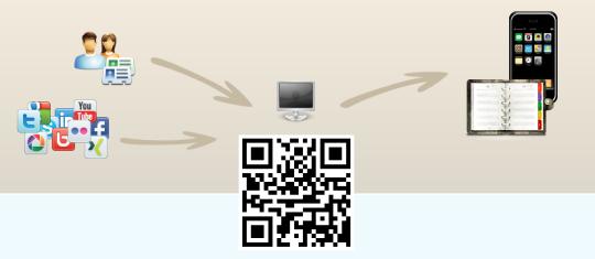 Crear QR con perfil social y contacto