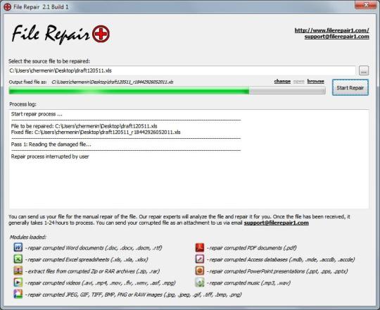 Reparar archivos dañados o corruptos
