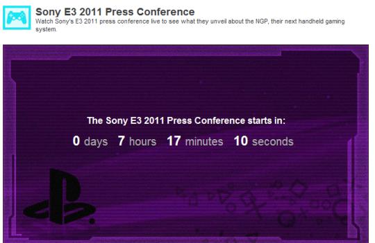 Ver online conferencia de Sony E3 2011