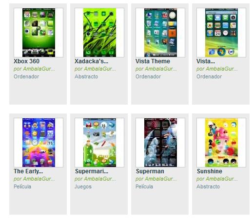 Temas gratis para iPhone