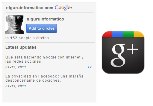 Widget de Google+ para tu web o blog