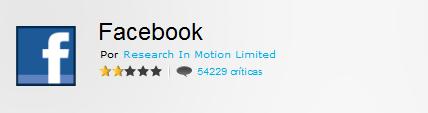 Facebook para BlackBerry