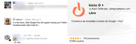 Publicar en Twitter y Facebook desde Google+