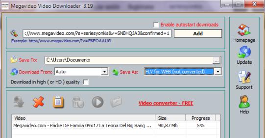 Descargar gratis vídeos de Megavideo