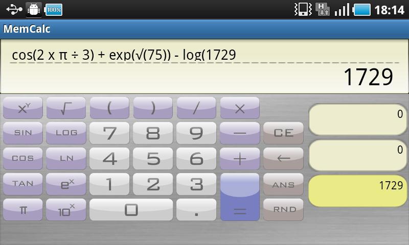 MemCalc para Android