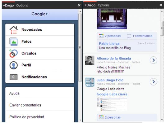 Google Plus desde el escritorio