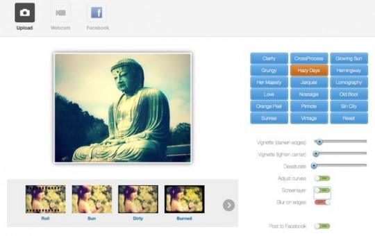 Efecto retro online para imágenes