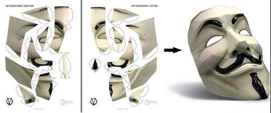 Imprime tu máscara de Anonymous