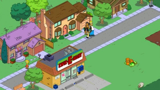 El juego de Los Simpsons Tapped Out  para móviles