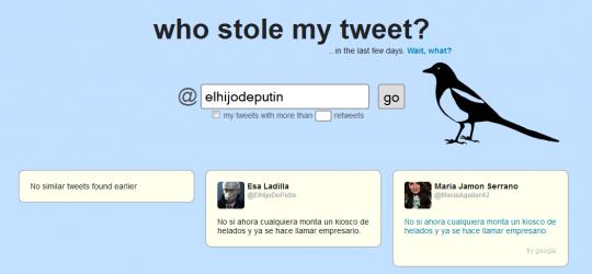 Comprueba quien copia tus tweets