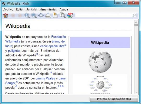 lector kiwix wikipedia