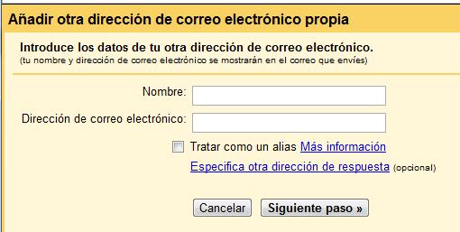 Añadir otras cuentas de correo en Gmail