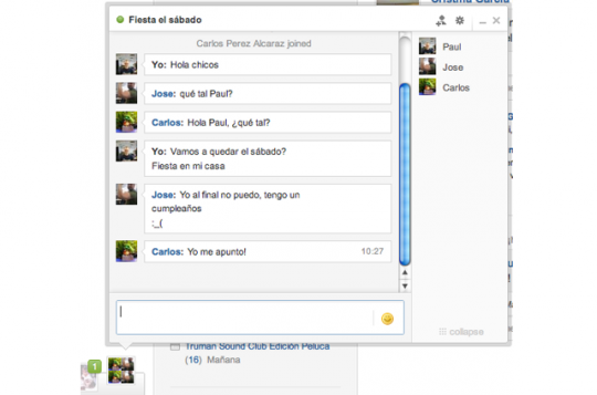 Chat para grupos en Tuenti