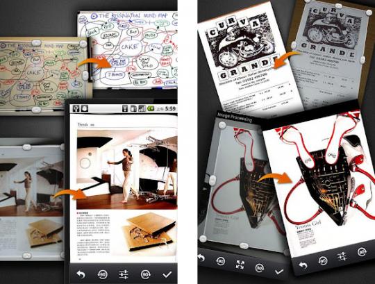 Aplicación móvil para escanear documentos