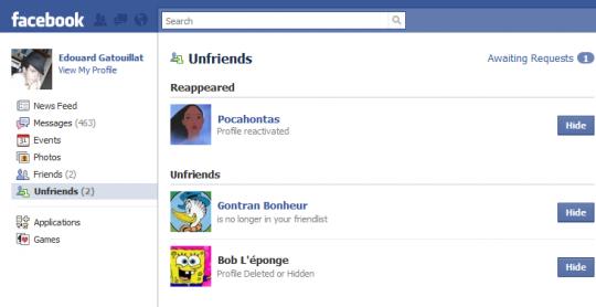 Cómo saber quién te borró del Facebook