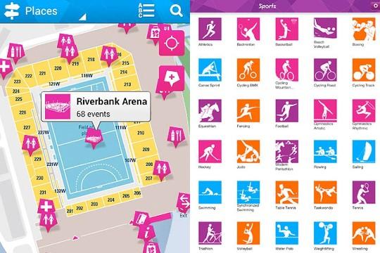 Apps oficiales de los Juegos Olímpicos en descarga gratuita.