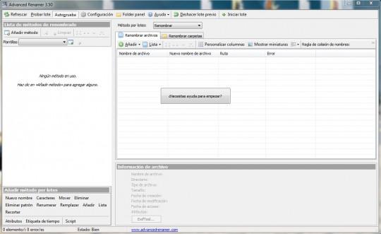 Software para renombrar muchos archivos a la vez