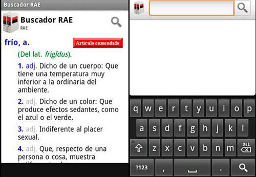 Aplicaciones móviles para la consulta del DRAE