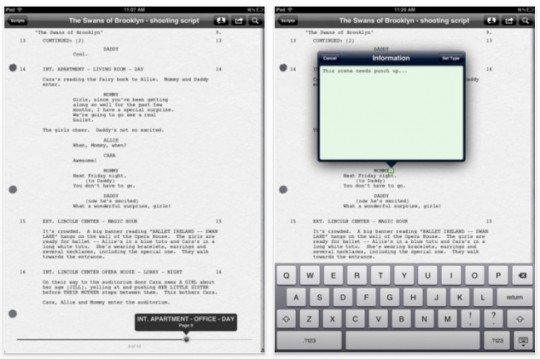 Final Draft Reader para iOS, tus guiones en el iPad.